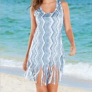 NWT Fringed Cover Up